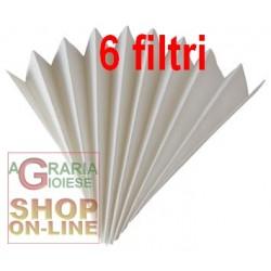 FILTRO DI CARTA PER IL VINO PIEGHETTATO DI 40 CM. 100 (conf. 6 pz)