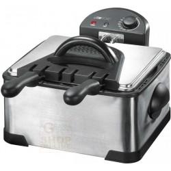 Friggitrice elettrica Clatronic FR3195 con doppia vasca inox