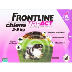 FRONTLINE ANTIPARASSITARIO PULCI ZECCHE TRI-ACT 2 - 5 KG.
