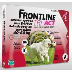 FRONTLINE PESTICIDE FLEAS TICKS TRI-ACT 40 - 60 KG.