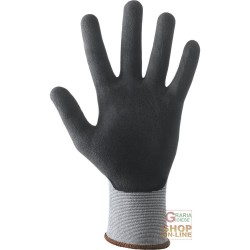 GLOVES WITH CONTINUOUS FILAMENT NYLON SPANDEX 15 GAUGE PALM COATED IN NITRILE FOAM AND POLYURETHANE