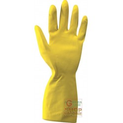 LATEX GLOVES CM 31 COLOR YELLOW TG 6 6 5 7 7 5 8 8 5 9 9 5 10 10 5