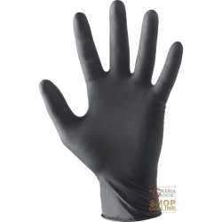 LATEX GLOVES POWDER FREE AQL 1 5 COLOR NERO TG S-M-L-XL ONLY FOR MINIMUM RISKS