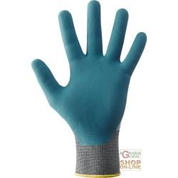 GLOVES, NYLON PALM IMPREGNATED IN NITRILE FOAM VENTILATED BACK COLOR BLUE TG 7 8 9 10