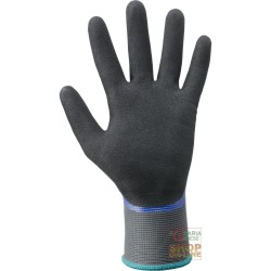 GLOVES IN NYLON, FULLY COATED NITRILE PALM DOUBLY COATED, WRIST KNIT