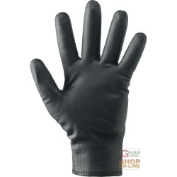 GLOVES IN NYLON, FULLY COATED NITRILE FOAM LINED VELCRO CLOSURE COLOR