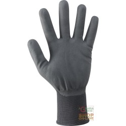 GLOVES IN NYLON COVERED IN POLYURETHANE FOAM OF WATER BASE COLOR BLACK TG 7 10