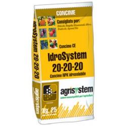 IDROSYSTEM FERTILIZER FOR FERTIGATION 20.20.20 KG. 25