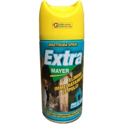 INSETTICIDA SPRAY EXTRA MAYER ELIMINA IMMEDIATAMENTE LE PULCI ML. 400
