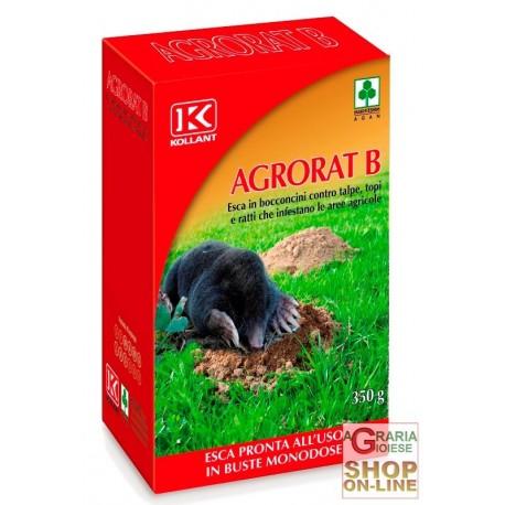KOLLANT AGRORAT B ESCA IN BOCCONI PER TALPE TOPI E RATTI GR. 350