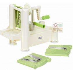 LURCH IS SLICING VEGETABLES WITH THREE INTERCHANGEABLE BLADES, LU 10203