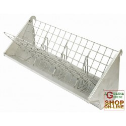 MANGER, GALVANISED HAY RACK AND PELLET FOR RABBITS